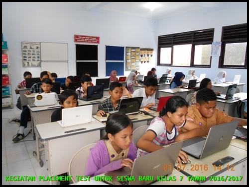 PLACEMENT TEST ONLINE SISWA BARU SMP NEGERI 4 PAKEM