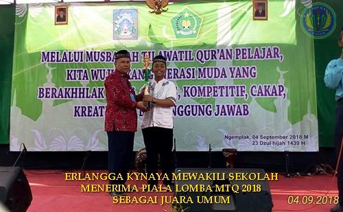 SMP NEGERI 4 PAKEM JUARA UMUM MTQ 2018
